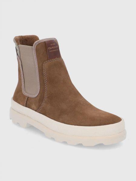 Замшевые ботинки Gant