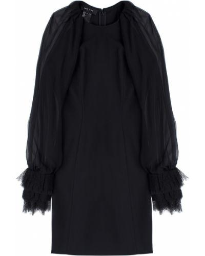 Черное платье мини с длинными рукавами на молнии Jay Ahr