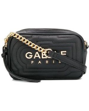 Сумка через плечо с принтом - черная Gaelle Bonheur