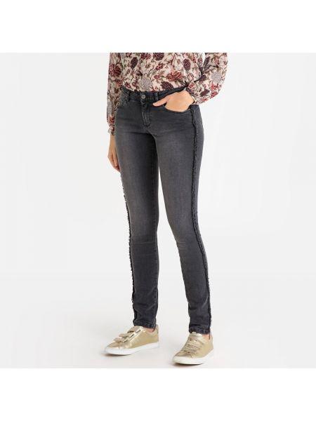 Хлопковые джинсы-скинни с заклепками с карманами с пайетками Ikks