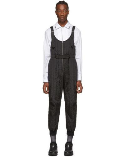 Черный комбинезон с карманами на бретелях Random Identities