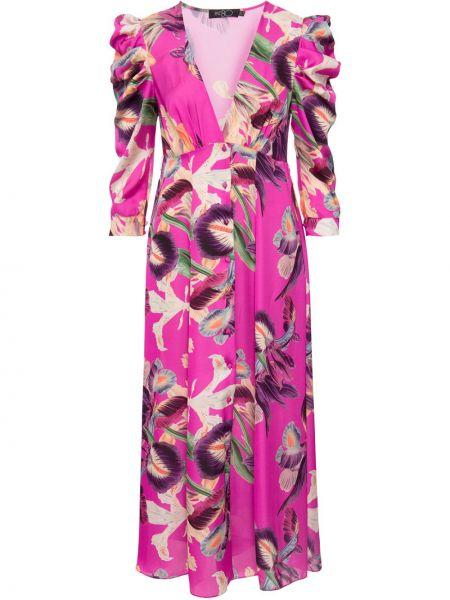 Прямое платье миди с V-образным вырезом с драпировкой на пуговицах Patbo