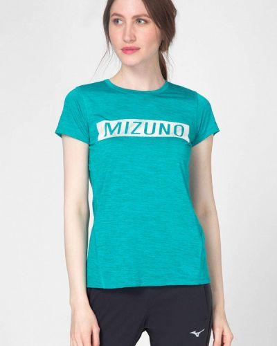 Бирюзовое поло Mizuno