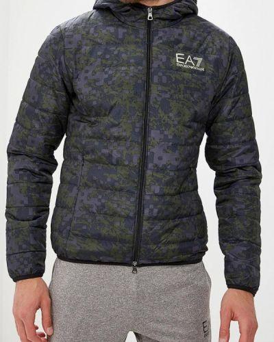 Куртка осенняя утепленная зеленый Ea7