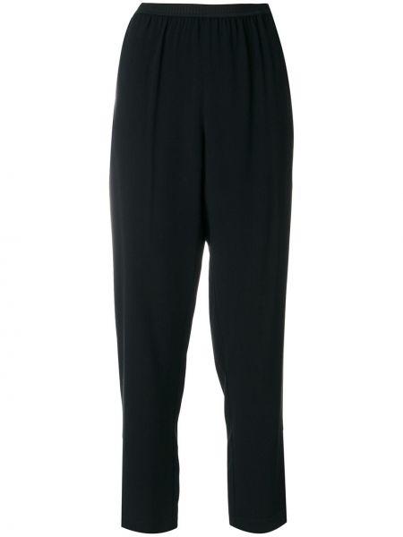 Черные деловые укороченные брюки с поясом I'm Isola Marras