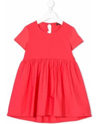 Розовое платье с рукавами European Culture Kids