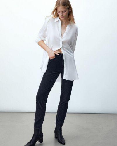 Черные зимние зауженные джинсы Massimo Dutti