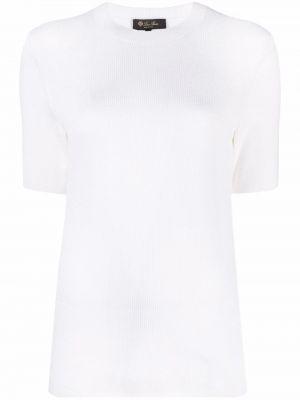 Biała koszulka bawełniana Loro Piana
