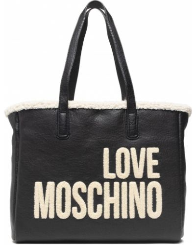 Klasyczna torebka - czarna Love Moschino