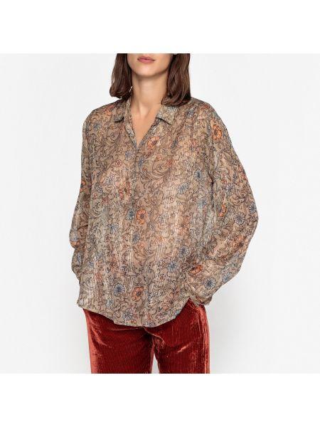 Рубашка с длинным рукавом из вискозы свободного кроя Mes Demoiselles
