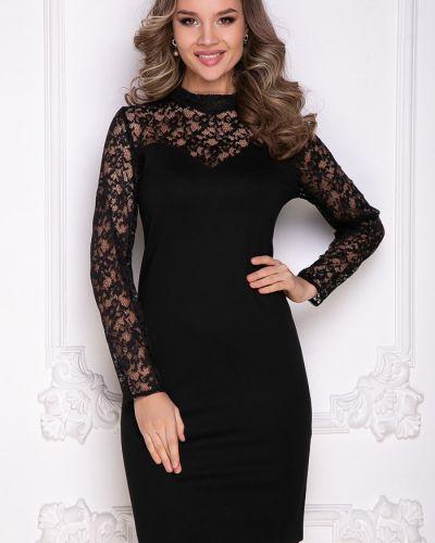 С рукавами трикотажное черное платье-футляр Bellovera