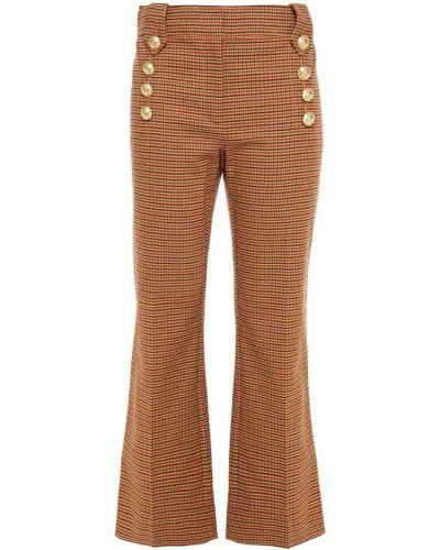 Расклешенные хлопковые желтые брюки Derek Lam 10 Crosby