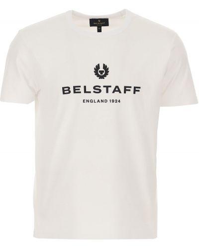 Czarny t-shirt bawełniany krótki rękaw Belstaff