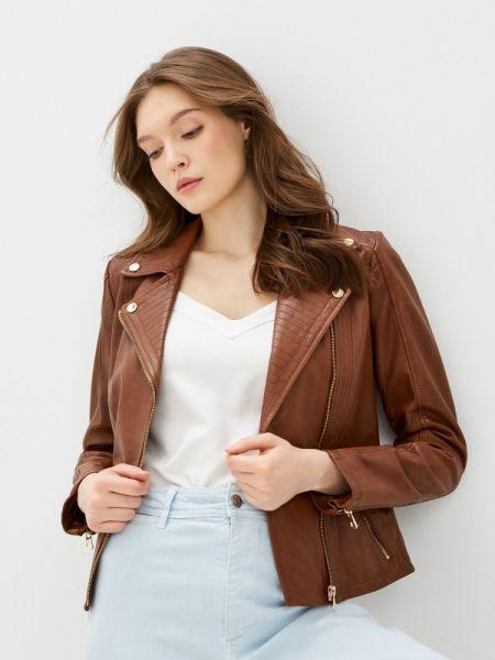 Кожаная куртка весенняя коричневая снежная королева