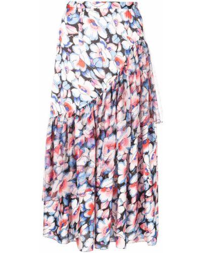Приталенная синяя юбка прозрачная Jill Stuart