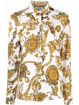 Koszula jeansowa - biała Versace Jeans Couture