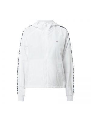 Biała wiatrówka z kapturem z raglanowymi rękawami Tommy Jeans