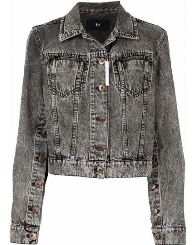 Серая джинсовая куртка 3x1