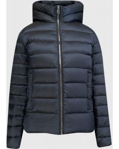 Прямая пуховая синяя куртка с капюшоном с карманами Ostin