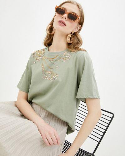 Зеленая футболка с короткими рукавами Tara Jarmon