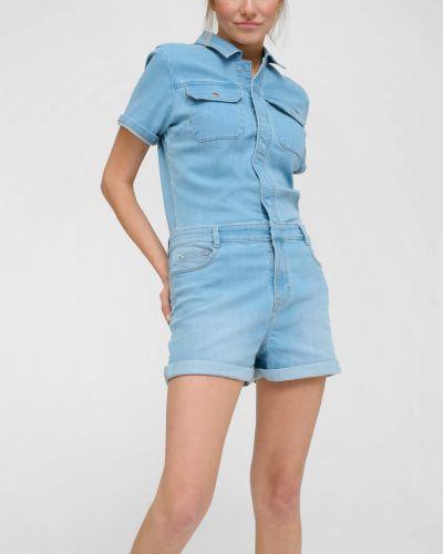 Niebieski kombinezon jeansowy bawełniany Orsay
