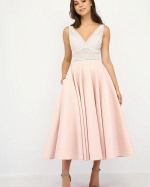 Розовое вечернее платье Miodress
