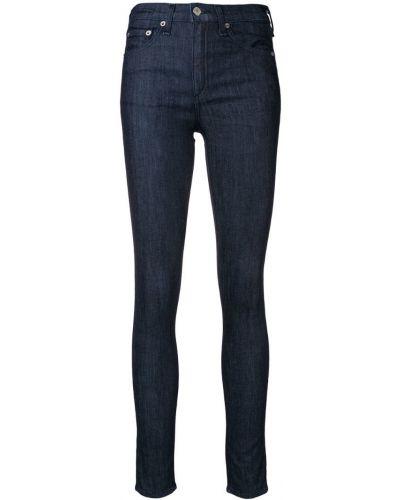 Джинсовые зауженные джинсы - синие Rag & Bone/jean