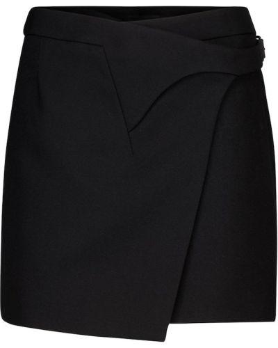 Ciepła czarna spódnica wełniana Wardrobe.nyc