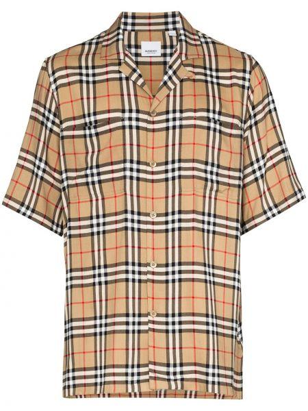 Koszula krótkie z krótkim rękawem klasyczna z kołnierzem Burberry