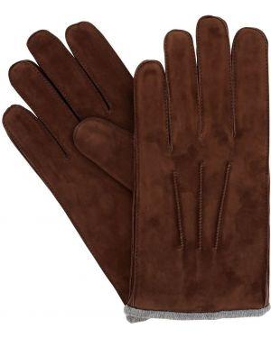 Z kaszmiru brązowe rękawiczki Mario Portolano