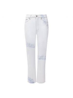 Укороченные джинсы - белые Ksubi
