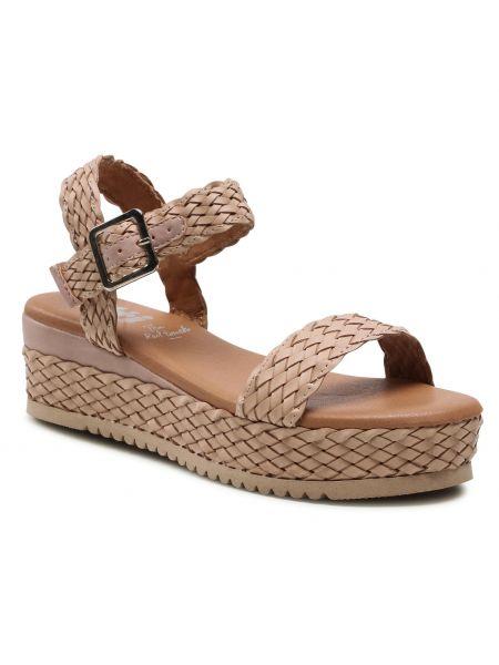 Beżowe sandały espadryle Xti