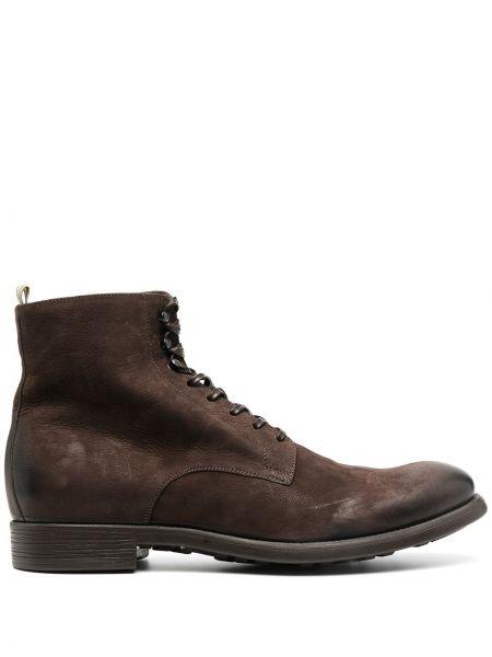 Koronkowa brązowy buty obcasy zasznurować na pięcie Officine Creative