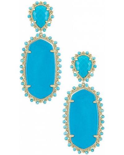 Niebieskie złote kolczyki Kendra Scott