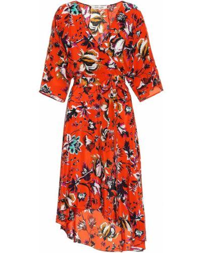 Платье миди с цветочным принтом шелковое Diane Von Furstenberg