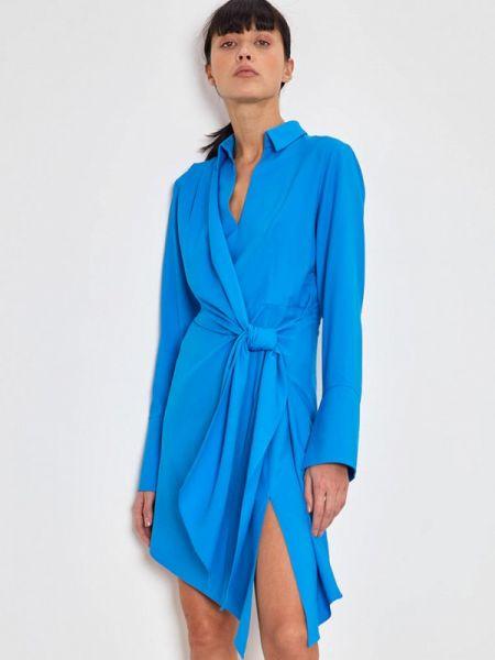 Платье платье-рубашка синее Lime