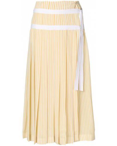Плиссированная юбка макси в полоску Joseph