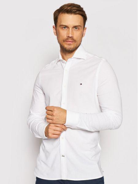 Biała biała koszula Tommy Hilfiger