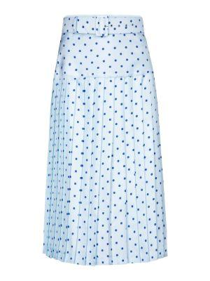 Шелковая юбка миди - синяя Rodarte