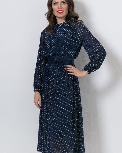 С рукавами платье в горошек прозрачное Modellos