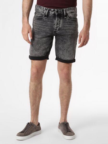 Czarne szorty jeansowe ocieplane Denham