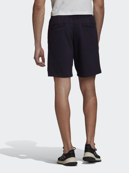 Хлопковые черные шорты с карманами Adidas