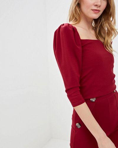 Блузка с длинным рукавом бордовый весенний Imocean