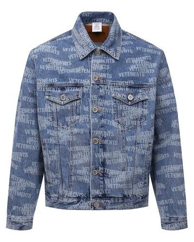 Синяя светлая куртка Vetements