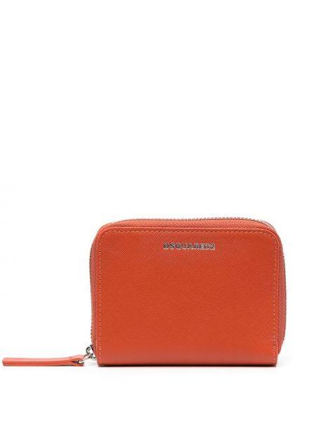 Pomarańczowy portfel skórzany Dsquared2