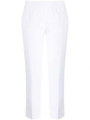 Брючные хлопковые белые укороченные брюки Piazza Sempione