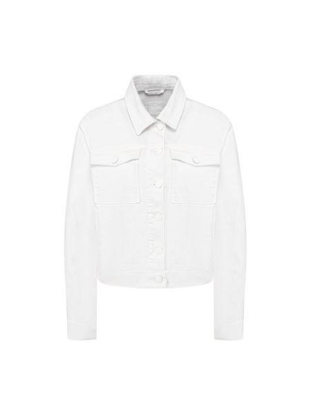 Хлопковая белая джинсовая куртка Boss