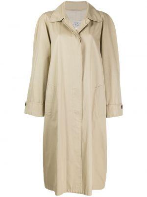 Свободное пальто классическое с капюшоном с воротником Gucci Pre-owned