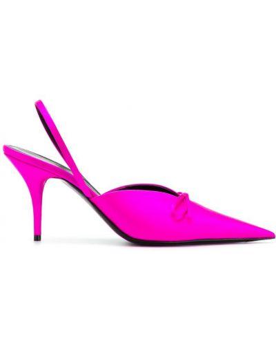 Мюли кожаные розовый Balenciaga