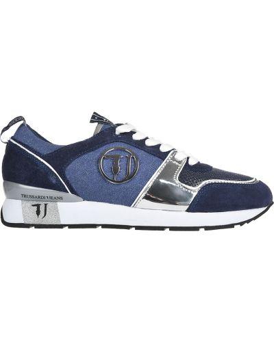Кроссовки замшевые из искусственной кожи Trussardi Jeans